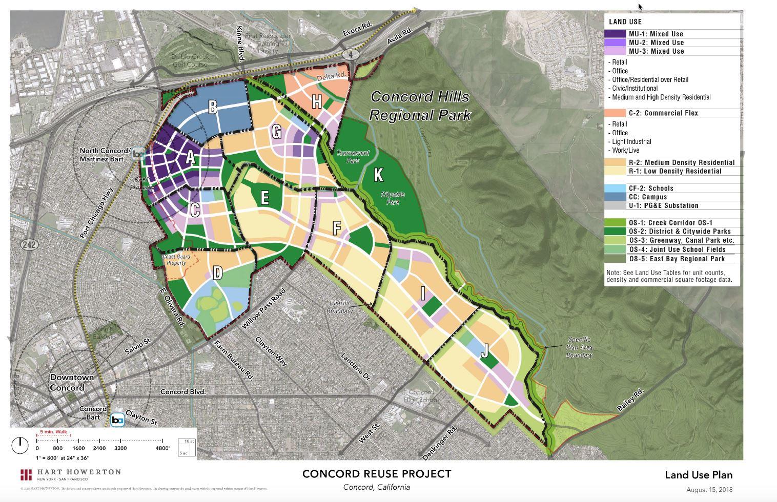 Csueb Concord Campus Map.Campus District Concord Community Reuse Project Ca